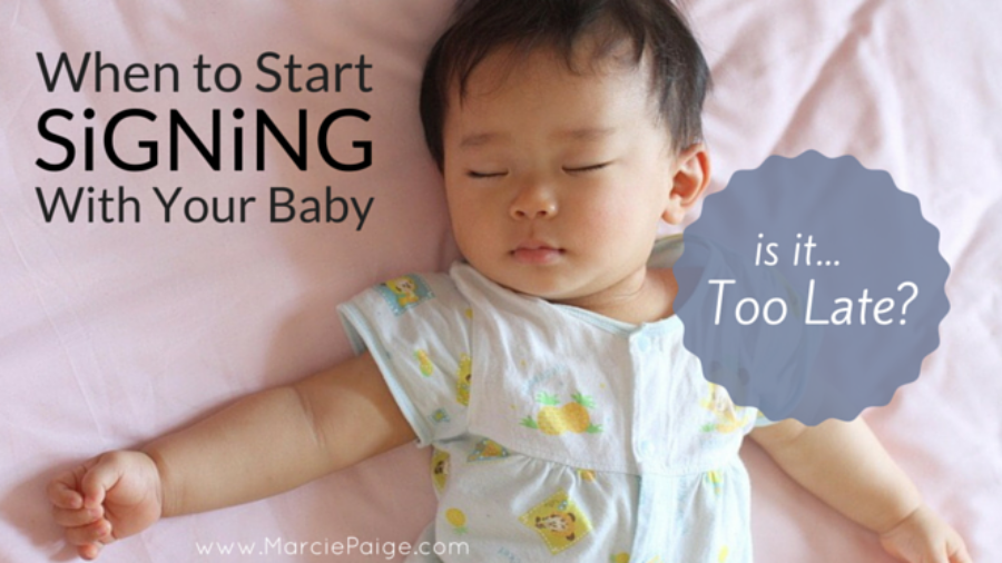 When to start signing with a baby, sign language for babies