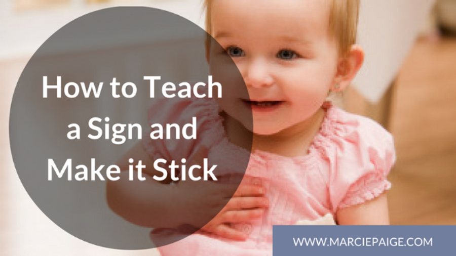 How to teach sign language to a baby