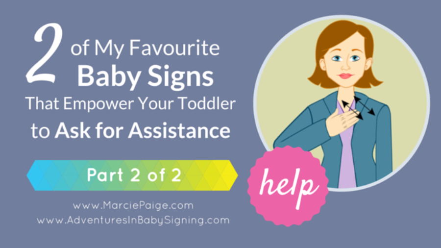 ASL sign for HELP, baby sign language